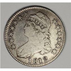 1812 SMALL 8 BUST HALF DOLLAR. FINE