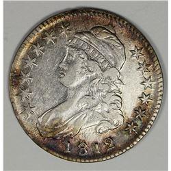 1812 LARGE 8 BUST HALF DOLLAR AU