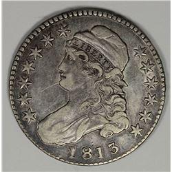 1813 BUST HALF DOLLAR XF+