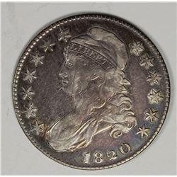 1820 BUST HALF DOLLAR CURL BASE 2