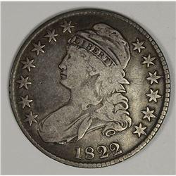 1822 BUST HALF DOLLAR