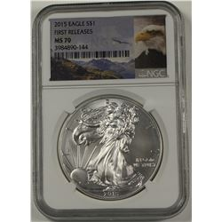 2015 AMERICAN SILVER EAGLE NGC MS 70