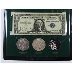 THE SILVER STORY WITH 1883-1923 SILVER DOLLARS