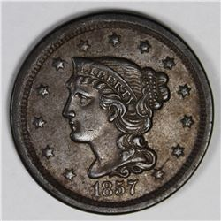 1857 LARGE CENT SMALL DATE