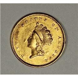 1854 GOLD DOLLAR TYPE 2 CH BU