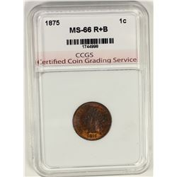 1875 INDIAN CENT CCGS SUPERB BU