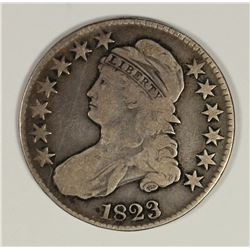 1823 BUST HALF DOLLAR UGLY 3