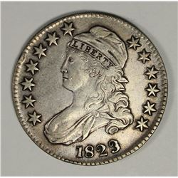 1823 BUST HALF DOLLAR PATCHED 3