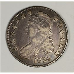 1824 BUST HALF DOLLAR