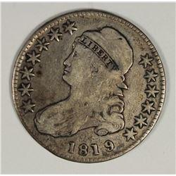 1819 BUST HALF DOLLAR XF++