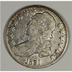 1831 BUST HALF DOLLAR XF