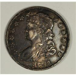 1834 BUST HALF DOLLAR AU/UNC