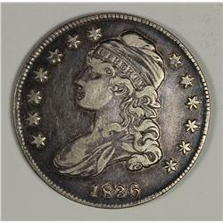 1836 BUST HALF DOLLAR 36/36