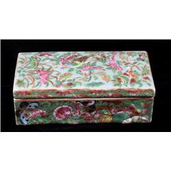 Chinese Hand Painted Porcelain Pen Box