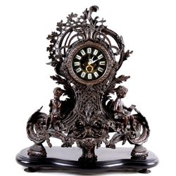 Rococo Style Modern French Putti Mantel Clock