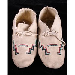 Northern Plains Native American Beaded Moccasins