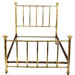 Butte Montana Antique Bronzed Metal Bed Frame