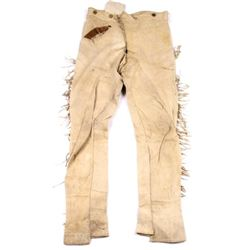 Early Apache Indian Scout Tanned Hide Pants 1800's