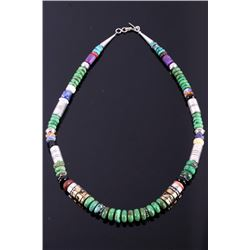 Navajo T Singer Goldcraft Multi Stone Necklace