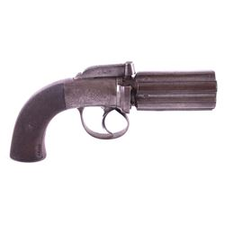 English Reilly Percussion Pepper Box Revolver