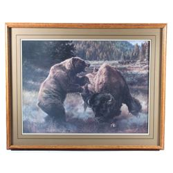 Dual Of Kings Print Signed By Barbara Peets c 1987