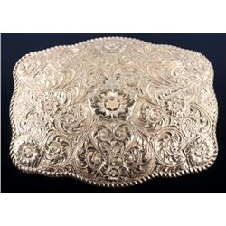 Large Crumrine Bronze Belt Buckle