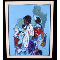 Original Montana Artist William Rains Painting