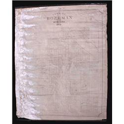 Rare Bozeman Montana City Map 1912