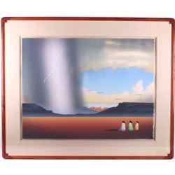"R.C. Gorman ""Thunderstorm"" Lithograph, 1983"