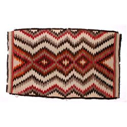 Early Navajo Eye Dazzler Pattern Wool Rug c.1900