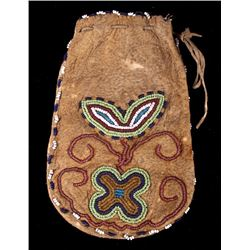 Crow Beaded Tobacco Pouch c. 19th Century