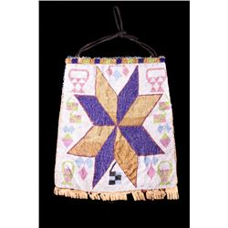 Great Lakes Woodlands Fully Beaded Bag 1900-