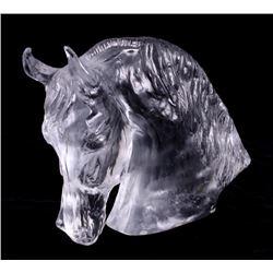 Baccarat Tauni de Lesseps Horse Head Statue