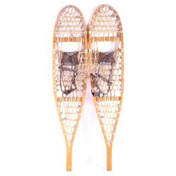 Antique Wooden Rawhide Snowshoes