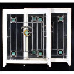 Art Deco Transom Stain Glass Windows