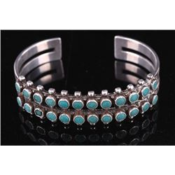 Old Pawn Sterling Silver & Turquoise Bracelet
