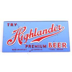 Highlander Beer Advertising Sign