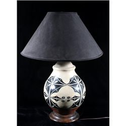 Acoma Pueblos Native American Pottery Lamp