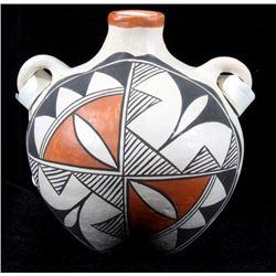 Signed Acoma Ceremonial Pueblo Pottery Canteen