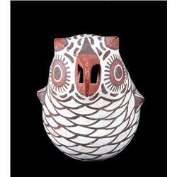 Zuni Polychrome Pottery Owl Effigy Figure c. 1900-