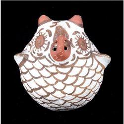 Zuni Polychrome Pottery Effigy Owl Figure c. 1900-