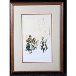 G Running Wolf Rare Hand Signed Print 144/150