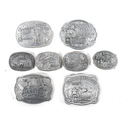 1990- 1997 Hesston National Finals Rodeo Buckles