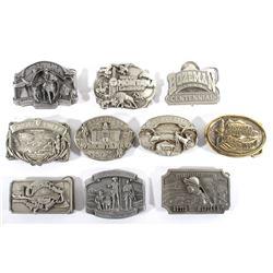 Collection of Montana City Centennial Belt Buckles
