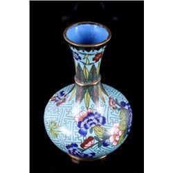 Chinese Cloisonne Over Bronze Enamel Vase