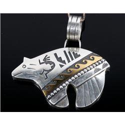 Thomas Singer Navajo Bear Pendant Necklace