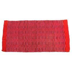 American Folk Art Style Hand Woven Wool Rug