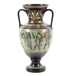 Signed Greek Apulian Amphora Form Vase