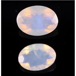 Oval Mixed-Cut Jelly & Precious Fire Opal Gemstone