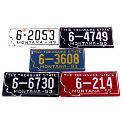 Montana Prison Made License Plates 1950's